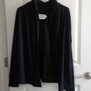 Simply Vera Hooded Cardigan Open Front